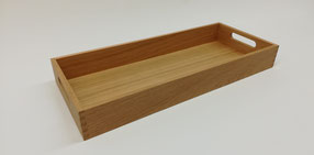 Holztablett aus Nussbaum oder Ahorn
