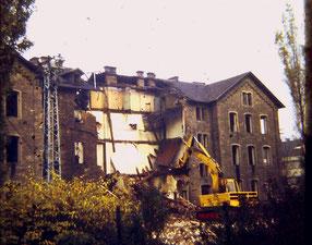 dudweiler, marktschule, schule, abriss, 1973