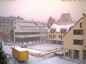 09.12.12 - 08:30: Aufbau im Schnee