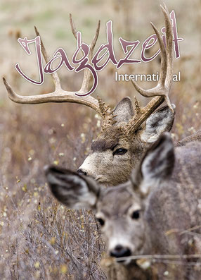 Jagdzeit International 21, Cover Maultierhirsch in der Brunft