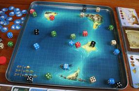Die Seekarte der 7 Weltmeere im Metalldosendeckel
