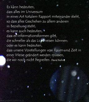 """Zitat von David Bohm """"Einheitliches Universum"""""""