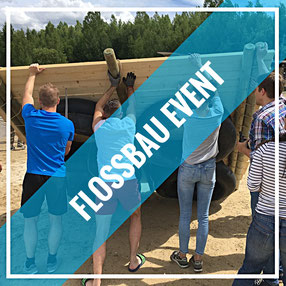 Bild: Teamevent, Betriebsausflug, Teambuilding, Flossbau