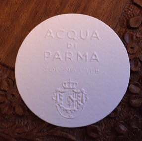 ACQUA DI PARMA - COLONIA CLUB : CARTE RONDE GAUFREE