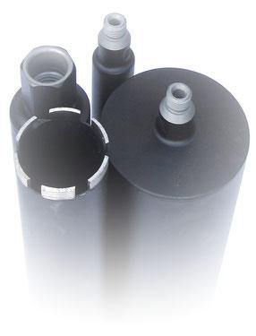 diamantboor / kernboor dunwandig diameter 122mm 400mm nuttige lengte aansluiting 5/4unc voor nat te boren in beton en gewapend beton