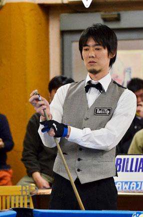 第1戦優勝。シードの林研字(Kenji Hayashi)