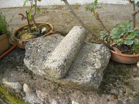 Stone sculpture, celtic, mill. Monte Santa Trega, A Guarda, Pontevedra, Galicia