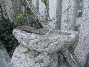 Escultura en piedra, celta, castrexo, barca. Monte Santa Trega, A Guarda, Pontevedra, Galicia