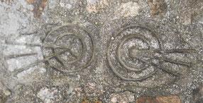 Escultura en piedra, celta, castrexo, círculos. Monte Santa Trega, A Guarda, Pontevedra, Galicia