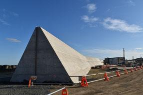 防潮堤の建設現場