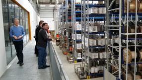 Das Elektro Wollmer Team besichtigt das Kabel-Lager