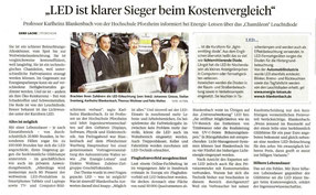 Elektro Wollmer GmbH und die Energie Lotsen GmbH in der Pforzheimer Zeitung