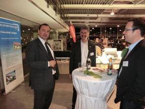 Veranstaltung: Die LED als Universalwerkzeug. Referenten: Stefan Svanberg und Prof. Dr. Karlheinz Blankenbach im lockeren Gespräch mit Thomas Wollmer