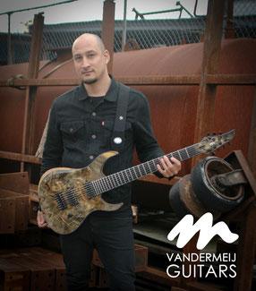 buckeye burl guitar custom guitars vandermeij sevenstring