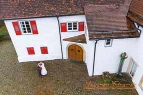 Luftbild Hochzeit Burg Kalteneck