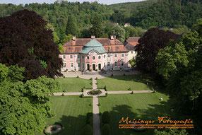 Luftbildaufnahme Schloss Assumstadt