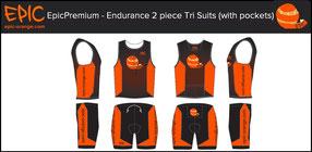 Custom 2-Piece Tri Suits ENDURANCE