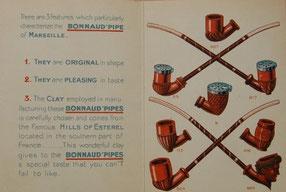 Vouwblad met reclame en deel assortiment van de firma Bonnaud uit Marseille