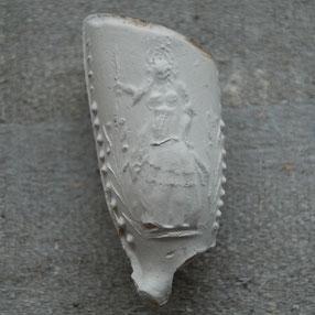 Afbeelding van een vrouw / koningin, ca 1700-1730