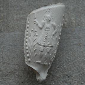 Afbeelding van een man/ koning, waarschijnlijk Gouda