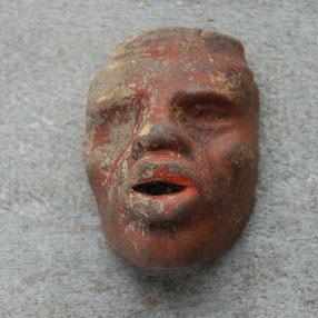 Fragmentje van een negroide gezicht, ca 1880-1940
