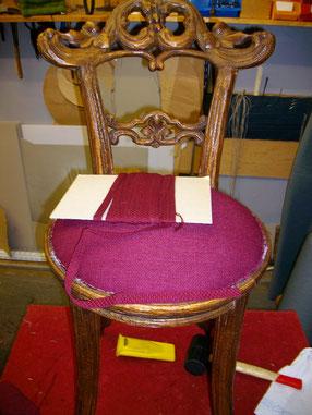 Stuhl polsterung Jugendstil