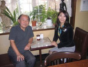 名曲喫茶ショパンにて宮本先生と共に(2012年)