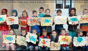 Vignette de l'article sur l'intervention scolaire en classe de CP à Donzy lors du Festival Littéraire Loire et Nohain en 2016 avec Cloé Perrotin