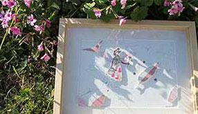 L'inspiration au jardin pour une série d'illustrations de décoration pour une chambre d'enfant