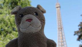 Vignette de l'article sur le voyage de la mascotte Moka la loutre à Paris