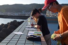 リクエスト授業の準備をする塾長たち。