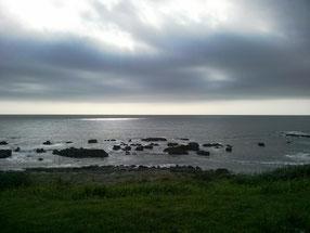 海に着いたときは曇りだった天気が・・