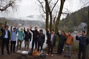 金鱗湖畔からの生配信授業