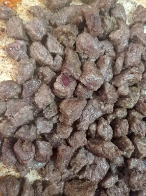 gebratenes Fleisch kavurma