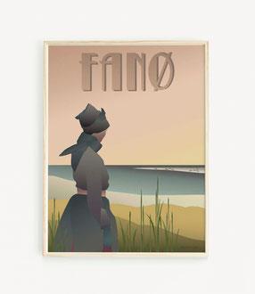 Fanø Girl Poster VisseVasse