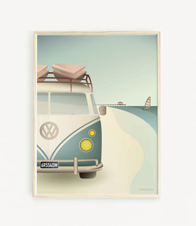 Camper Poster Skandinavischer Stil