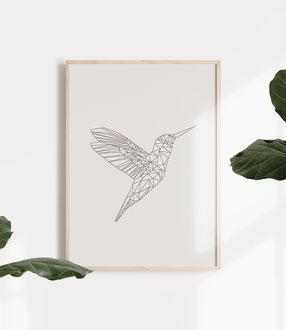 Geometrische Poster im skandinavischen Stil