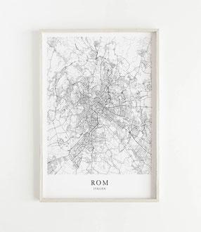 Karte als Poster von Rom
