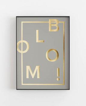 BLOOM - Abstraktes Poster