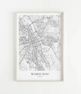 Kopenhagen Poster als Karte im skandinavischen Stil