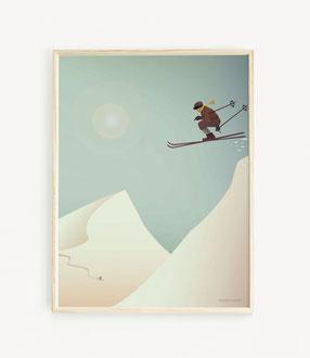 SKIING Skandinavisches Poster