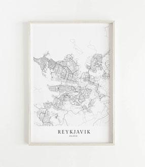 Karte Reykjavik