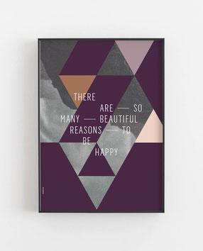 BEAUTIFUL REASONS Abstraktes Poster