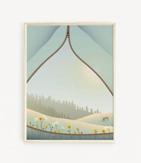TENT WITH A VIEW Poster