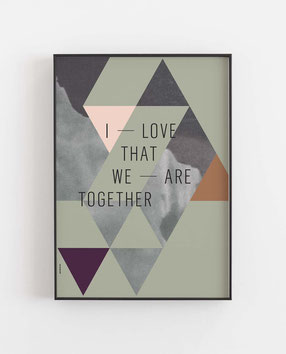 WE ARE TOGETHER - Abstraktes Poster