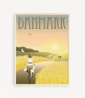 Dänemark Ausflug mit dem Rad Poster