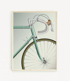 Racing Bicycle Skandinavisches Poster