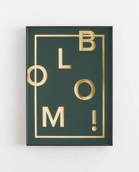 BLOOM! Racing green -  Abstraktes Poster