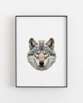 Poly Art Wolf