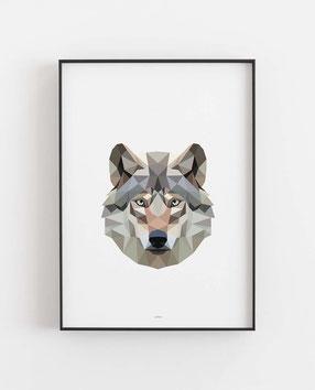 Poly Art Wolf